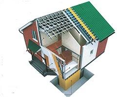 Строим дом своими руками. Дом из нутри