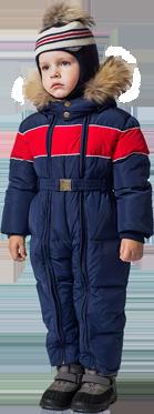 Зимние комбинезоны и сапоги для детей